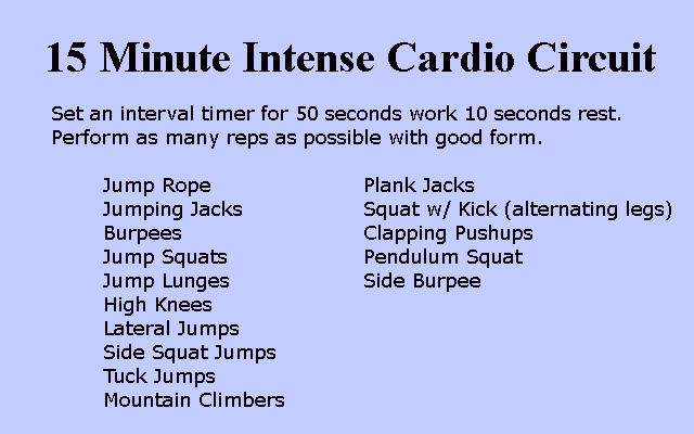 15 Minute Cardio Circuit
